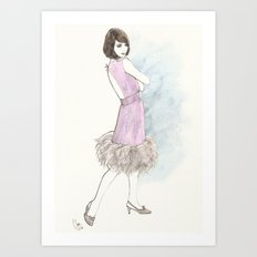 'Abby' Watercolor Fashion Illustration Art Print