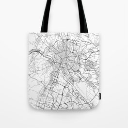 Dijon Map White Tote Bag