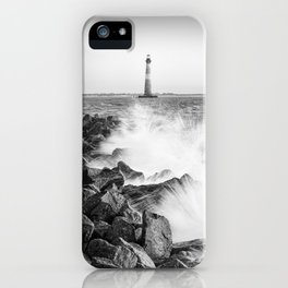 Morris Island Light Splash iPhone Case