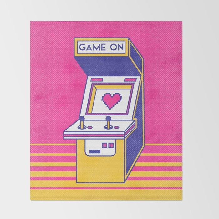 Retro Arcade Video Game Throw Blanket