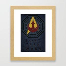 Lost Trek Wars Framed Art Print