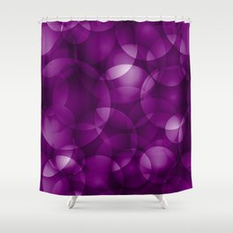 Dark intersecting purple translucent circles in bright colors with a blueberry glow. Shower Curtain