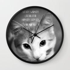 Soft Kitty Wall Clock