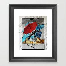 Bumbershoot Day Framed Art Print