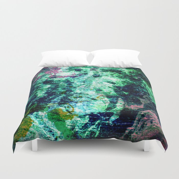Face in Wood Abstract two Duvet Cover