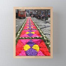 Flower carpets Framed Mini Art Print