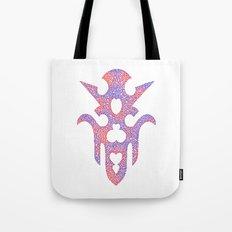 Red Violet Tribal Doodle Tote Bag