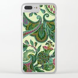 Eleganza Paisley Floral Clear iPhone Case