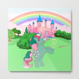g1 my little pony Fizzy at Dream Castle Metal Print