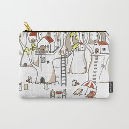 Forest animals waiting for the holidays Carry-All Pouch