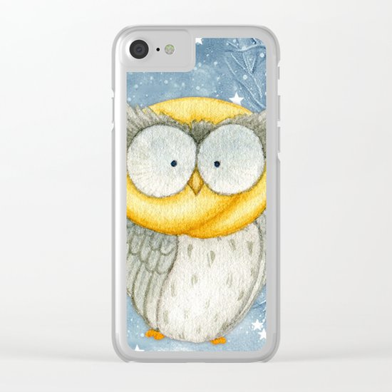 Winter animal #8 Clear iPhone Case