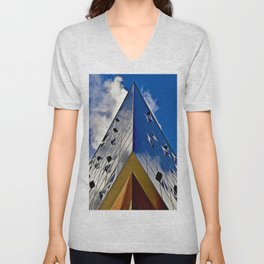 When music touches the blue sky Unisex V-Neck