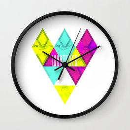 Paper Triangles ▵WHATEVER▵ Wall Clock