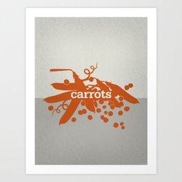 Carrots/Peas Art Print