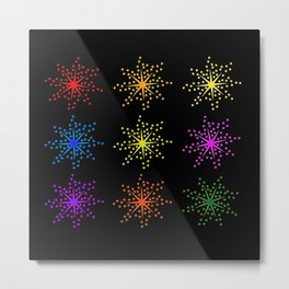 Colorful Comic Explosions Metal Print