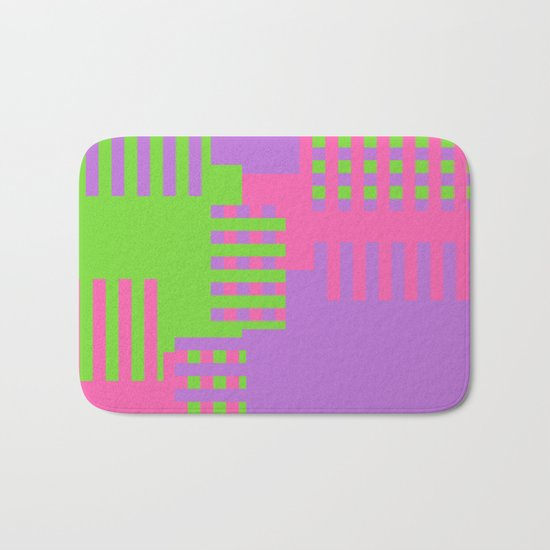 Colorful Abstract Q Bath Mat