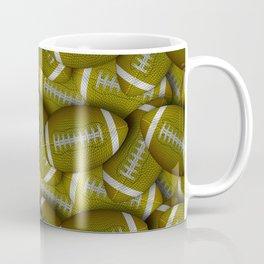 Yellow Footballs Everywhere Coffee Mug