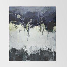 Modern Indigo Eclipse Abstract Design Throw Blanket