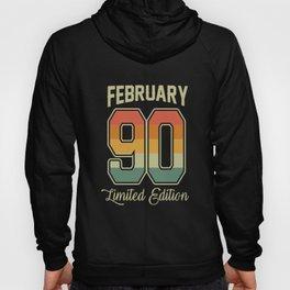 Vintage 30th Birthday February 1990 Sports Gift Hoody