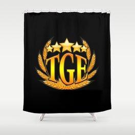 The Gluten Empire on Black Shower Curtain