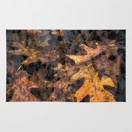 Leaves in a Rock Pool Square Rug