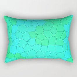 Blue and Green Stained Glass Design! Rectangular Pillow