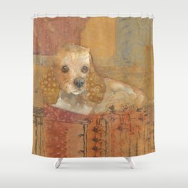 The Cozy Cocker Shower Curtain