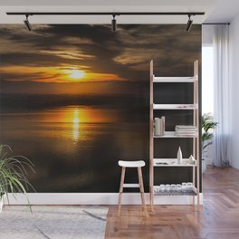 Golden glow over Black Butte Lake Wall Mural