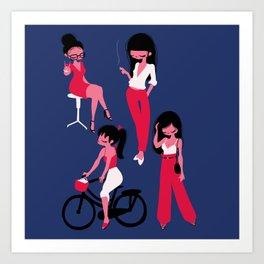 La française Art Print