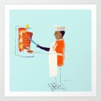 tacos al pastor Art Print