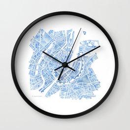 Copenhagen Denmark watercolor city map Wall Clock