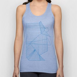 Architectural Blue Print Unisex Tank Top