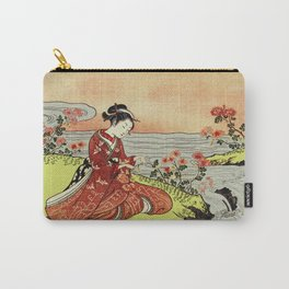 Transformation of Kikujido - Vintage Japanese Woodblock Carry-All Pouch
