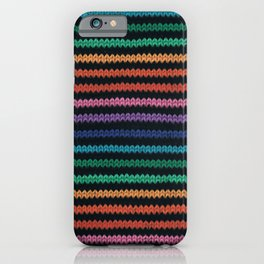 Knitted rainbow iPhone Case