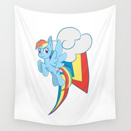 Rainbow Dash Cutie Mark Charm Wall Tapestry