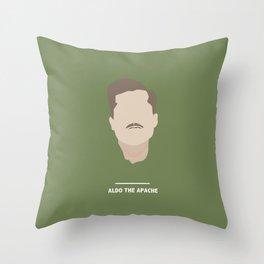 ALDO THE APACHE (Inglourious Basterds) Throw Pillow