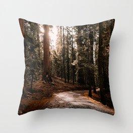 Walking Sequoia 4 Throw Pillow