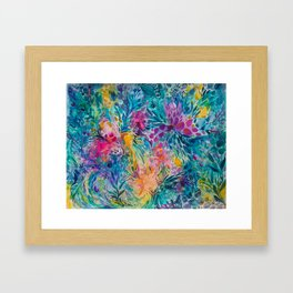 Summer Floral Framed Art Print