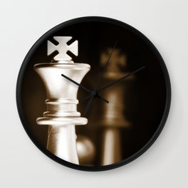 Chess-Sliver King Wall Clock