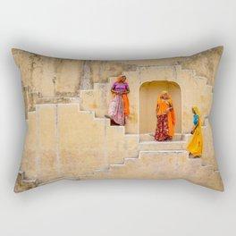 Amber Stepwell, Rajasthan, India Rectangular Pillow