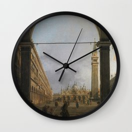 Piazza San Marco by Canaletto Wall Clock
