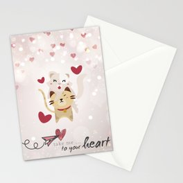 Take me to your heart Stationery Cards