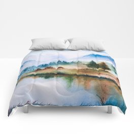 Winter scenery #16 Comforters