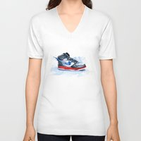 nike V-neck T-shirts featuring Nike dunk by istraille