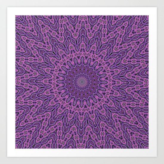 Center in Plumberry Art Print