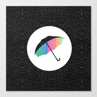 umbrella Canvas Prints featuring umbrella by Luna Portnoi