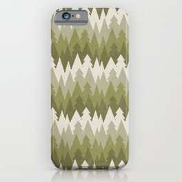 Layered Green Forest iPhone Case