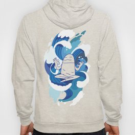 One With The Waves - Ocean, surfing, mindfulness Hoody