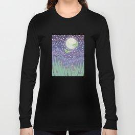 Moonlit stars, luna moths, snails, & irises Long Sleeve T-shirt