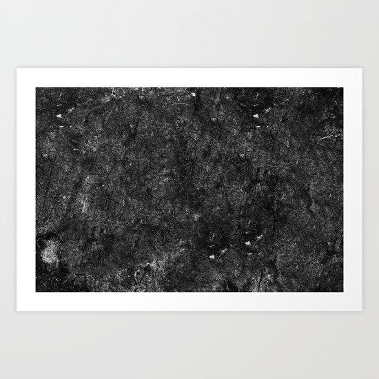 Starry Black Marble Art Print